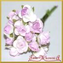 Różyczki papierowe 1cm 12szt. liliowe