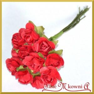 Różyczki papierowe 1cm 12szt. bordowe