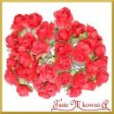 Różyczki papierowe 1cm 144szt. bordowe
