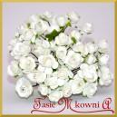 Różyczki papierowe 1cm 12szt. białe