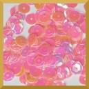 Cekiny kółka łamane 6mm 17g różowe opalizujące - f9
