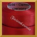 Tasiemka satynowa 25mm kolor 8056 ciemno czerwony