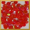 Cekiny kółka łamane 6mm 17g czerwone opalizujące - f26