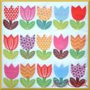 Serwetka do decoupage rysunkowe tulipany