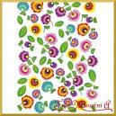 Papier ryżowy A4 R309-kwiaty łowickie