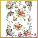 Papier ryżowy A4 R421 róże i niezapominajki