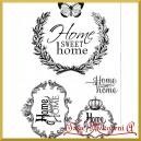 Papier do decoupage SOFT A4  S116-home sweet home