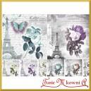 Papier do decoupage KLASYCZNY A4 D0537M-Paryż i róże