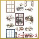Przegródki ozdobne do kul plexi - TAG070 - pejzaże i okna