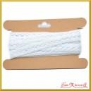 Koronka bawełniana biała 10mm/4,5 mb - KRB126