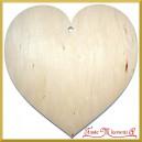 Serce pełne duże - sklejka ozdobna 20cm