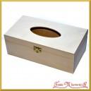 Pudełko drewniane - chustecznik prostokątny z zatrzaskiem