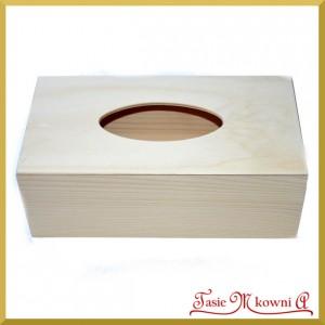 Pudełko drewniane - chustecznik prostokątny