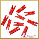 Klamerki czerwone 3,5cm/10szt.