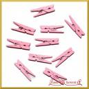 Klamerki różowe 3,5cm/10szt.