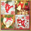Serwetka do decoupage dekoracje choinkowe