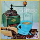 Serwetka do decoupage kawa z zielonym młynkiem 1szt