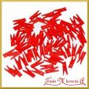 Klamerki czerwone MEGA PAKA  3 cm/72szt.
