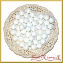 Brokatowe kulki białe 1,8cm