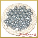 Brokatowe kulki srebrne 1,8cm