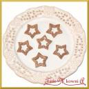 Gwiazdki brokatowe cappucino 3,5cm/6szt.