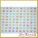 Perełki kwiatuszki samoprzylepne białe opalizujące 8 mm/234szt.