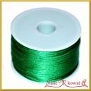 Sznurek satynowy - gorsetowy 45mb zielony