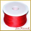 Sznurek satynowy - gorsetowy 45mb czerwony