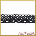 Koronka bawełniana czarna ażurowa 25mm/4,5 mb - KRB146