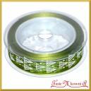 Tasiemka SZYFONOWA zielona w choinki 25mm/1mb