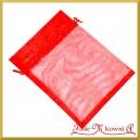WORECZKI Z ORGANZY 15x20 cm czerwony 1szt.