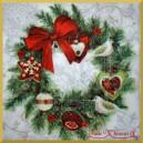 Serwetka do decoupage wianek bożonarodzeniowy 1szt
