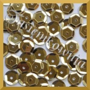 Cekiny kółka łamane 6mm - 12g jasno złote