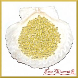 Perełki 4 mm ecru perłowe