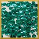 Cekiny kółka łamane 6mm - 12g zielone butelkowe