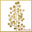 Liść duży okrągłe kuleczki złote