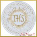 Aplikacja termo IHS biała ze złotym 1szt.