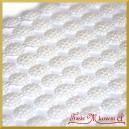 Taśma ozdobna biała perłowa JEŻYNKI 10,5cm/0,5mb