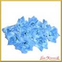 RÓŻE - kwiatuszki ozdobne NIEBIESKIE 10szt.