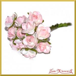 Różyczki papierowe 1cm 12szt. jasno różowe