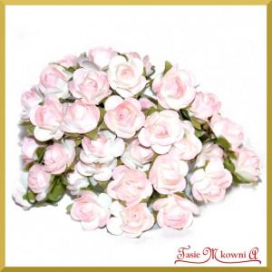Różyczki papierowe 1cm 144szt. jasno różowe