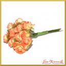 Różyczki papierowe 1cm 12szt. pomarańczowe