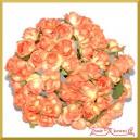 Różyczki papierowe 1cm 144szt. pomarańczowe