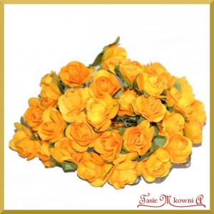 Różyczki papierowe 1cm 12szt. żółte słoneczne