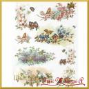 Papier ryżowy A4 R1077 - ptaszki na gałązkach