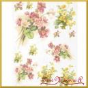 Papier ryżowy A4 R960 - kwiaty żółte i czerwone