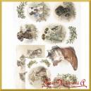 Papier ryżowy A4 R1018 - psy i koty