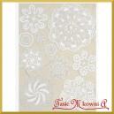 Papier ryżowy A4 R547 - koronka biała