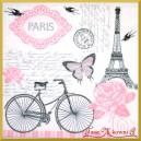 Serwetka do decoupage rower Paryż