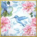 Serwetka do decoupage niebieski koliberek